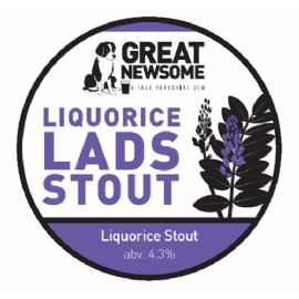 Great Newsome Liquorice Lads Stout CASK 41LT 4.3%