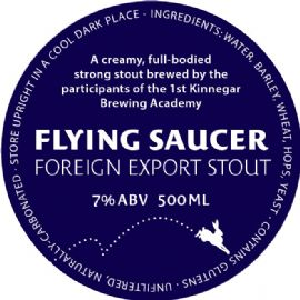 KINNEGAR BREWING Flying Saucer Foreign Export Stout 30LT 7%