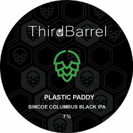 THIRD BARREL - Plastic Paddy - DDH Black IPA 6.8% 30LT